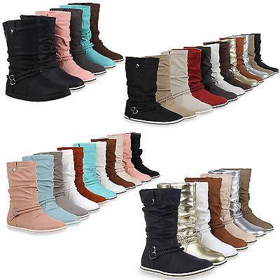 Damen Stiefeletten Schlupfstiefel Flache Ubergangs Schuhe 98206 Gr 36 42 Schuhe Ebay Stiefeletten Damen Stiefeletten Stiefel