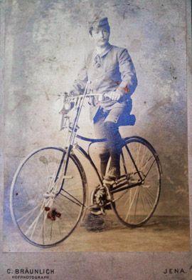 Historische Fahrrad Fotografie Aus Jena Mit Einem Amerikanischem