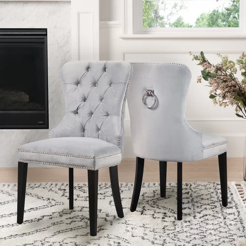 Zaphod Tufted Upholstered Side Chair In 2020 Upholstered Dining