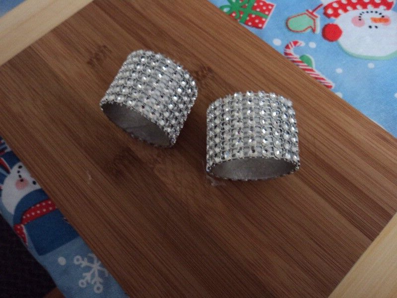 Diy Napkin Rings Used With Toilet Paper Rolls Rhinestone