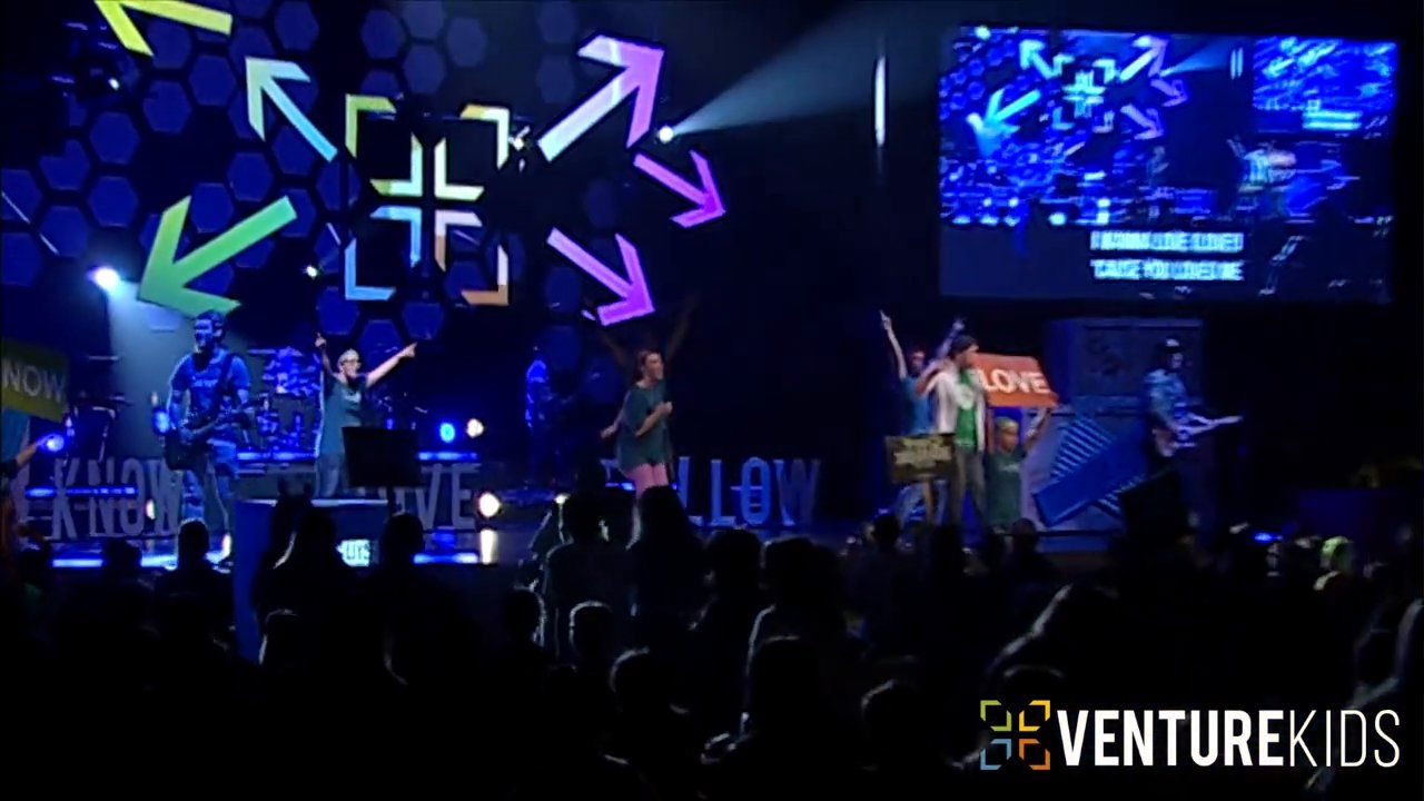 """""""Know, Love, Follow"""" is Venture Kids original song that has become an anthem for our church.  The mission of Venture Church is to lead people to know, love and follow Jesus.  This song is a reminder of that mission and what God is doing in our community.  www.venturechurch.org"""