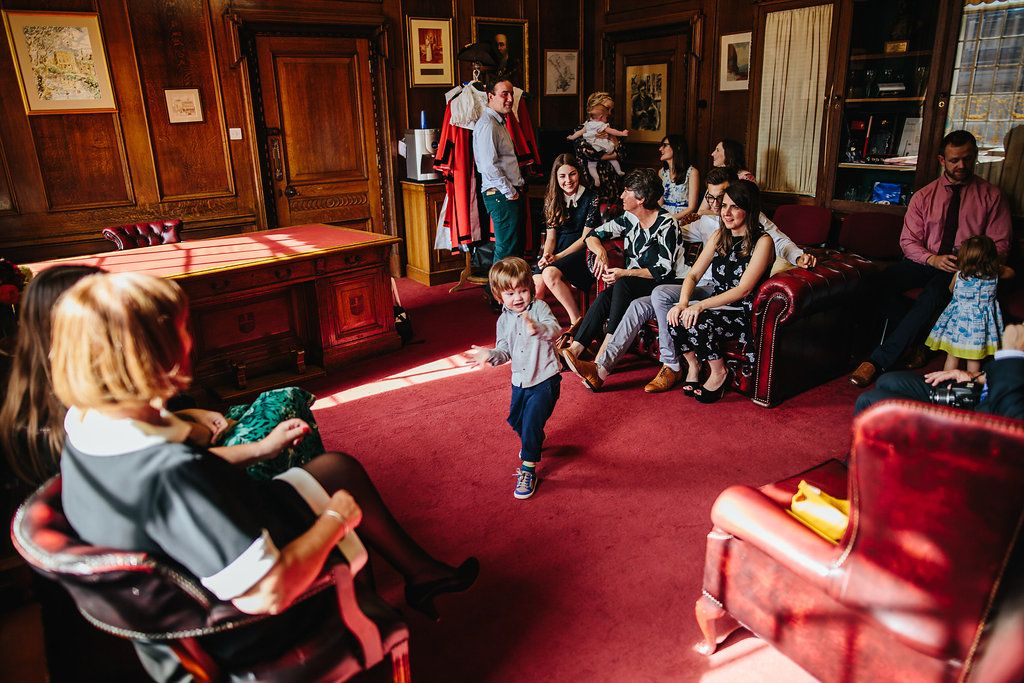 """Whilst we were having our pre-ceremony interview our super cute nephew entertained everyone with his dancing. He is dancing to David Bowie's """"China Girl"""" in this shot. - Alice and Sinead 