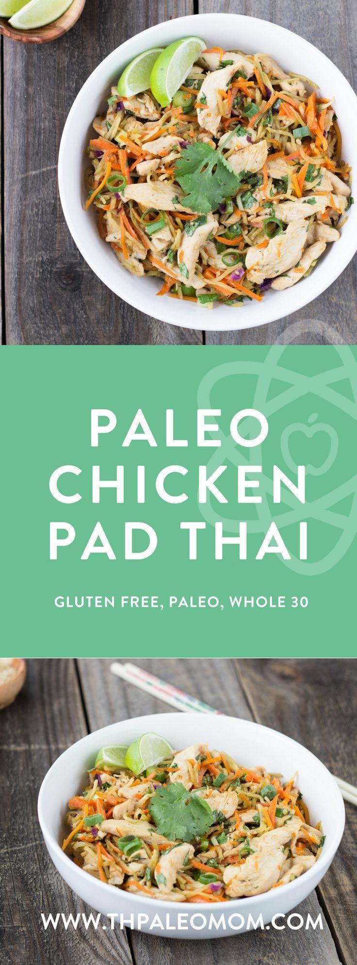 Paleo Chicken Pad Thai #fishmeal