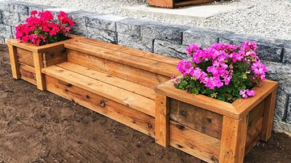 Outdoor Planter Steps or Benches