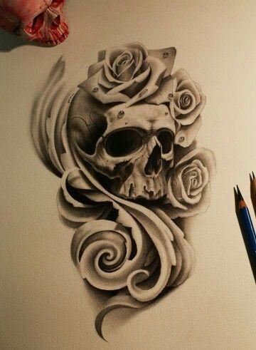 Ideas Tatuajes Calaveras 299 Tatuajes Rosas Y Calaveras Calaveras Diseno De Tatuaje De Calavera