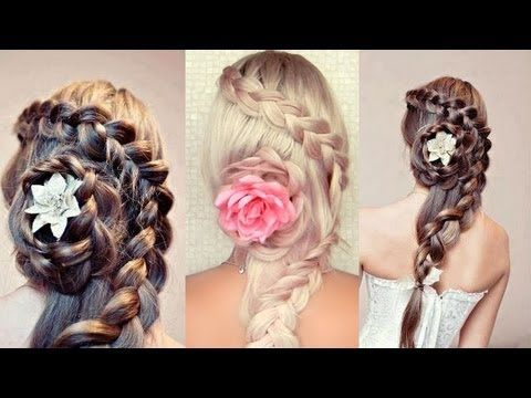 Rose Flower Up Do Prom Hair Tutorial Braided Hairstyles For Wedding Braids For Long Hair