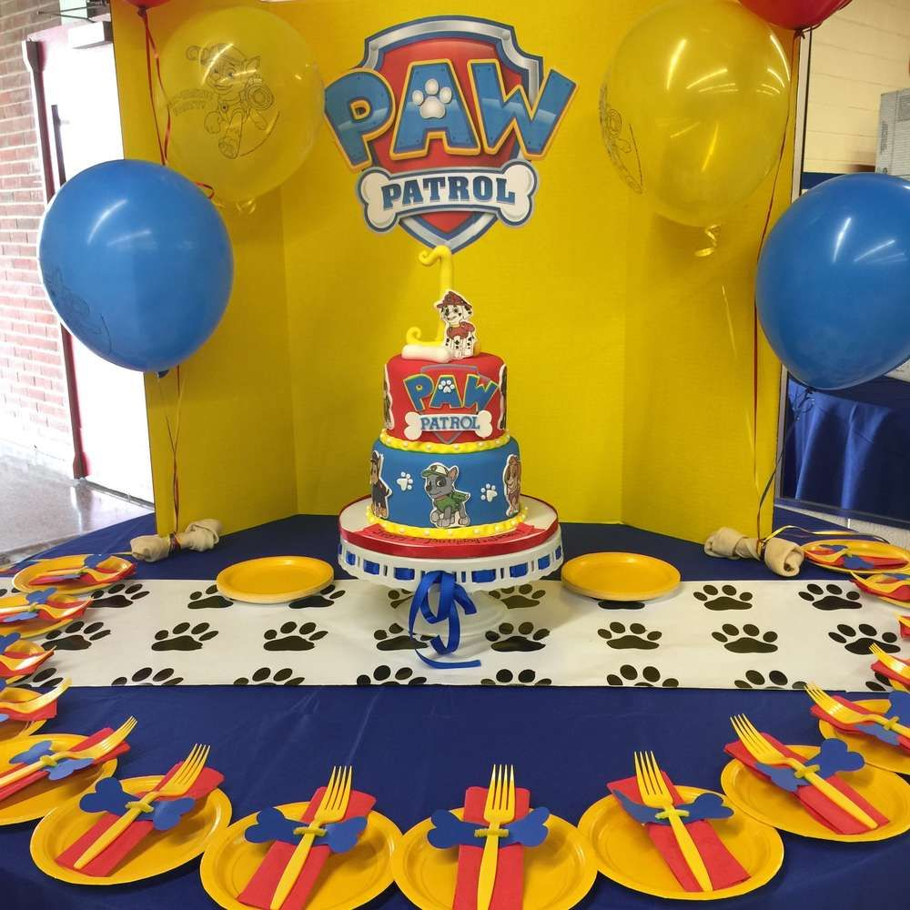 Birthday table decorations boy - Paw Patrol Birthday Party Ideas