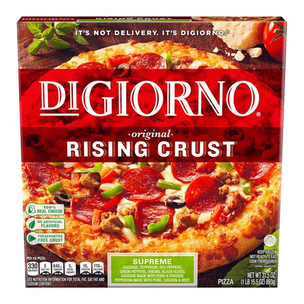 Digiorno Rising Crust Supreme Frozen Pizza 31 5oz In 2020 Digiorno Pizza Digiorno Frozen Pizza