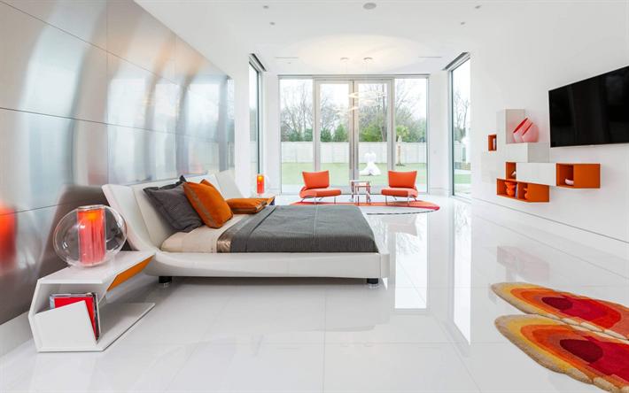 Scarica sfondi camera da letto, design moderno ed elegante, il ...