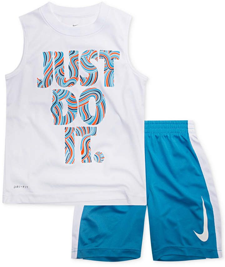 new style 4f680 1deeb Nike Toddler Boys 2-Pc. Just Do It-Print Muscle Tank   Shorts Set