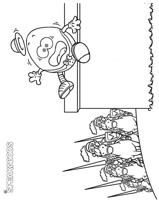 Humpty Dumpty #Printable #Coloring Page from Speakaboos