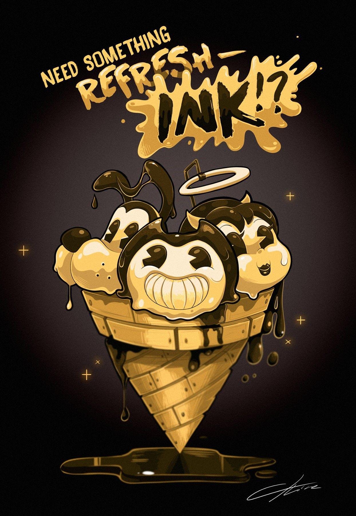 Mmm Ice Cream Bendy And The Ink Machine Dark Art Drawings