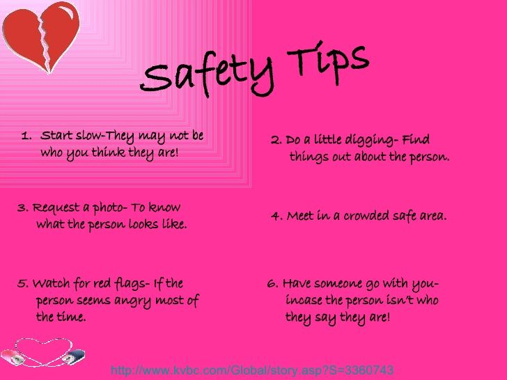 3 dating safety tips