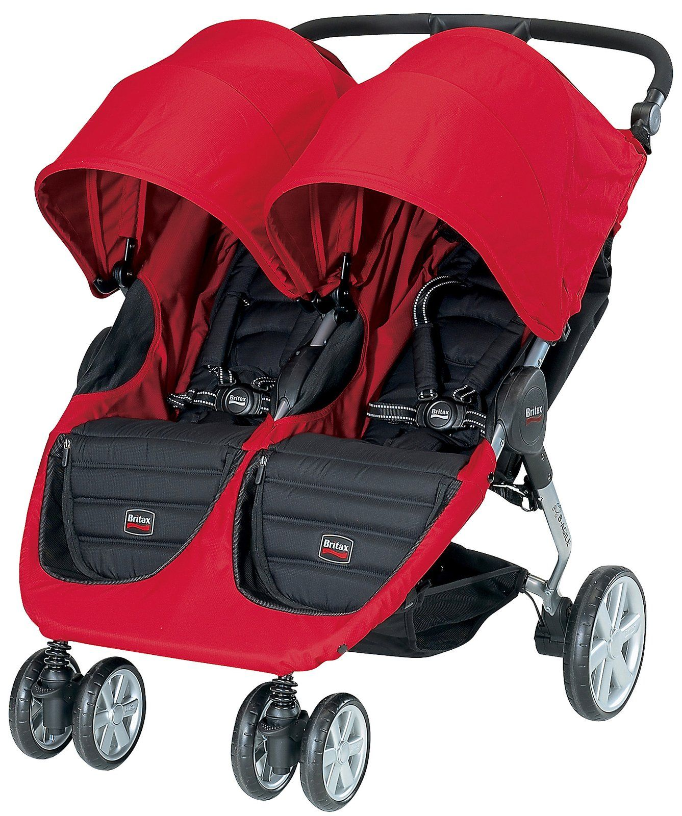 Britax BAgile Double Stroller Red Twin strollers