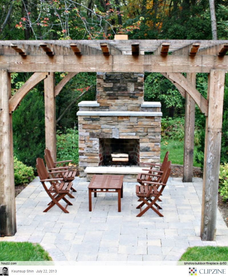 Pin On Outdoor Stone Fireplaces