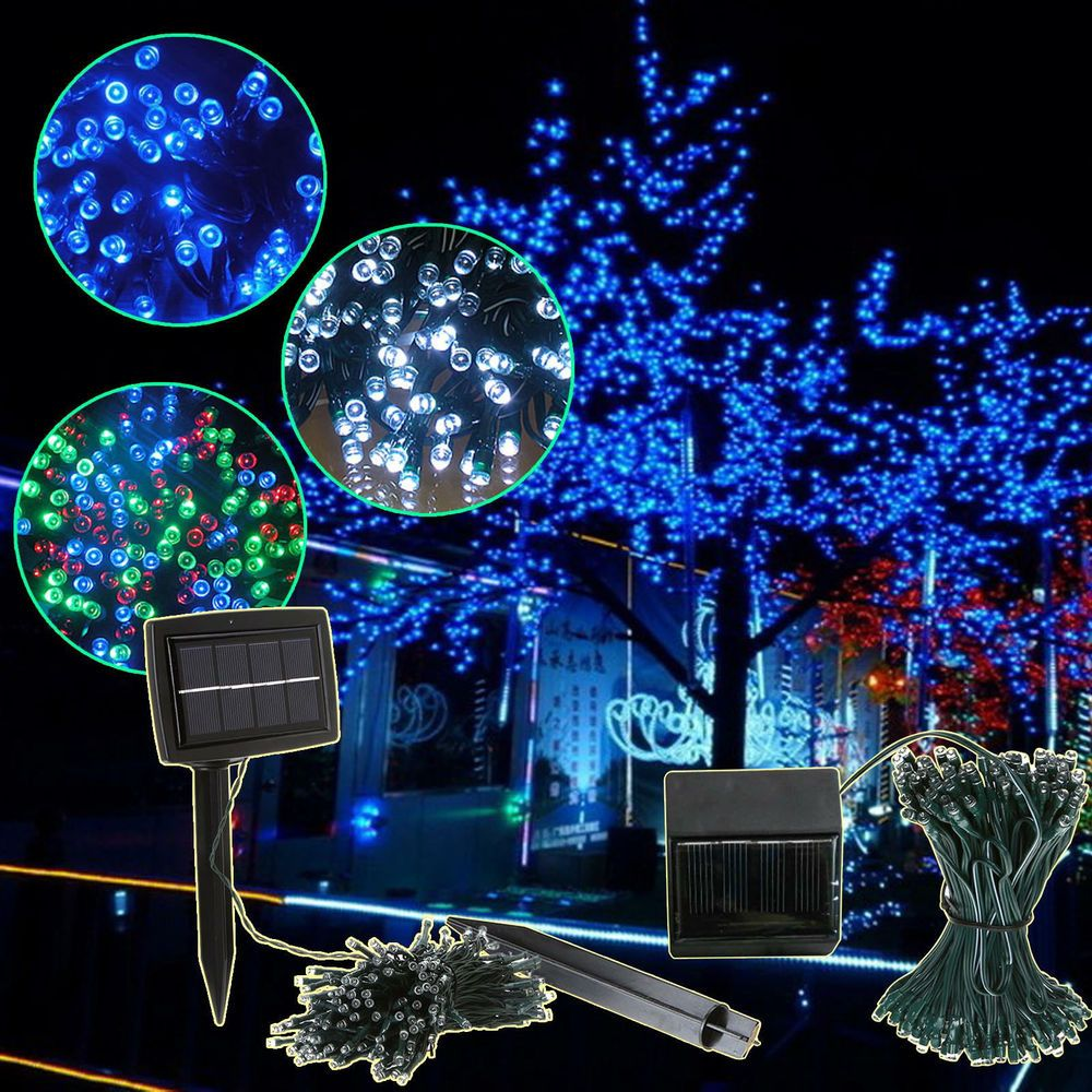 100200 led solar power fairy light string strip lamp party xmas 100200 led solar power fairy light string strip lamp party xmas garden outdoor aloadofball Images
