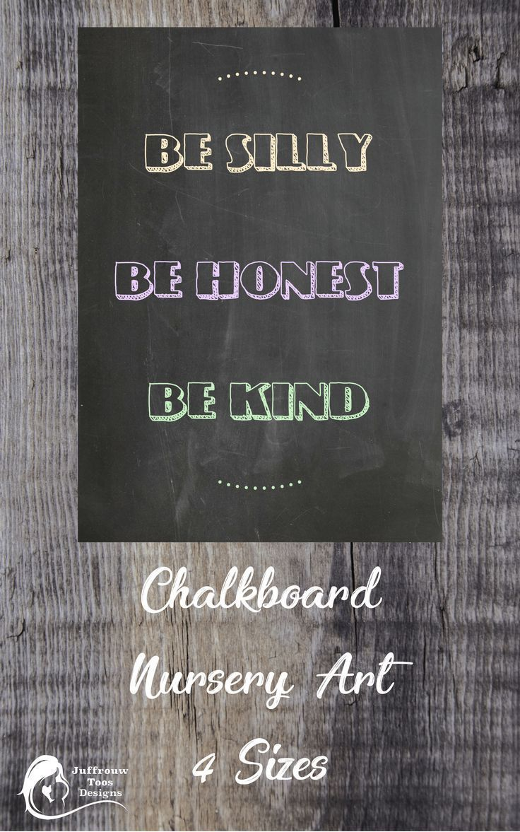 Chalkboard art printable cute quote to decorate the baby nursery or