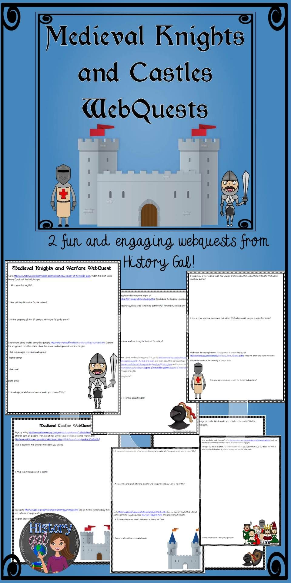 This product contains two WebQuests: 1. Knights and Warfare ...