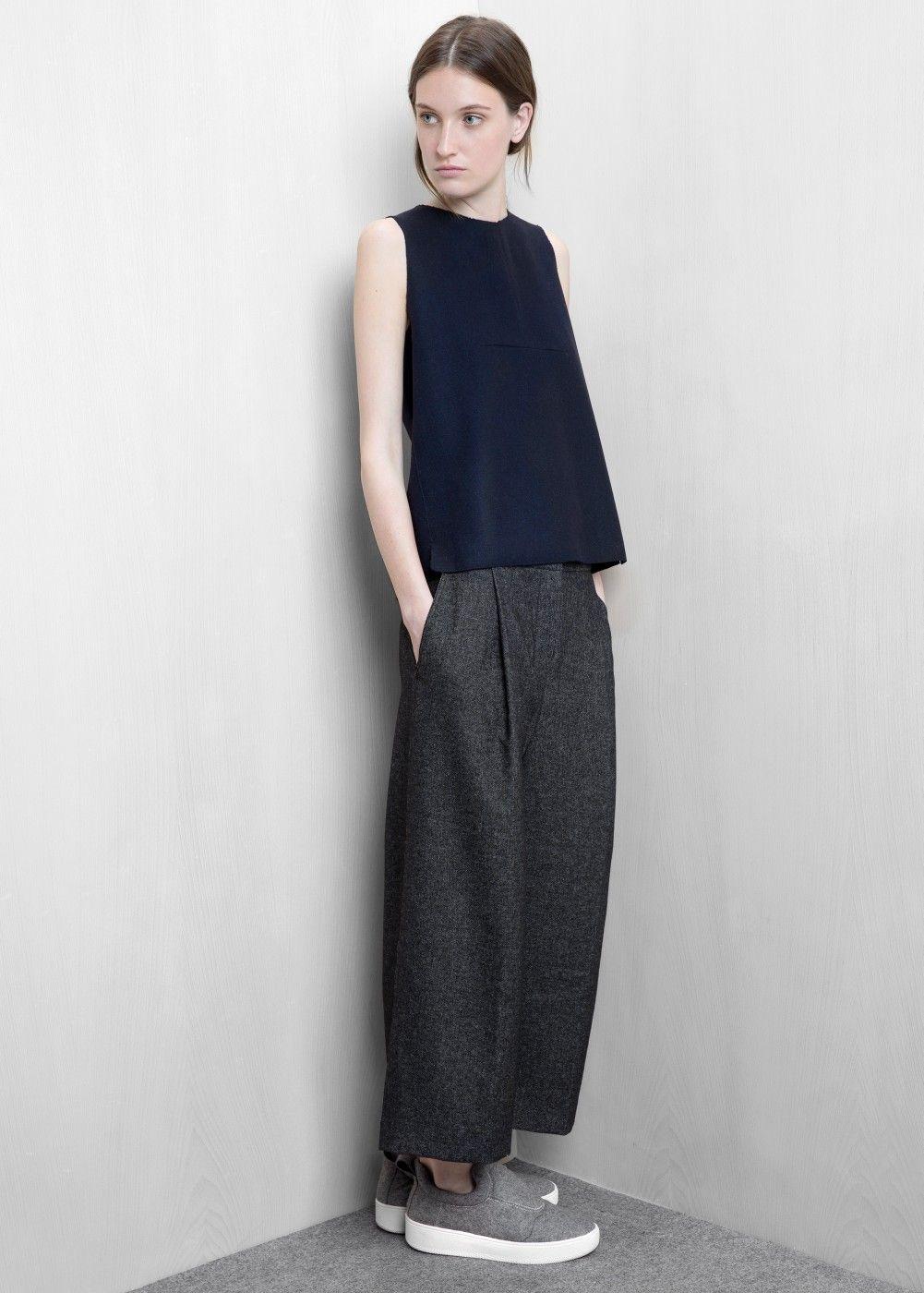 Premium palazzohose im capri stil damen minimalismus for Minimalismus kleidung