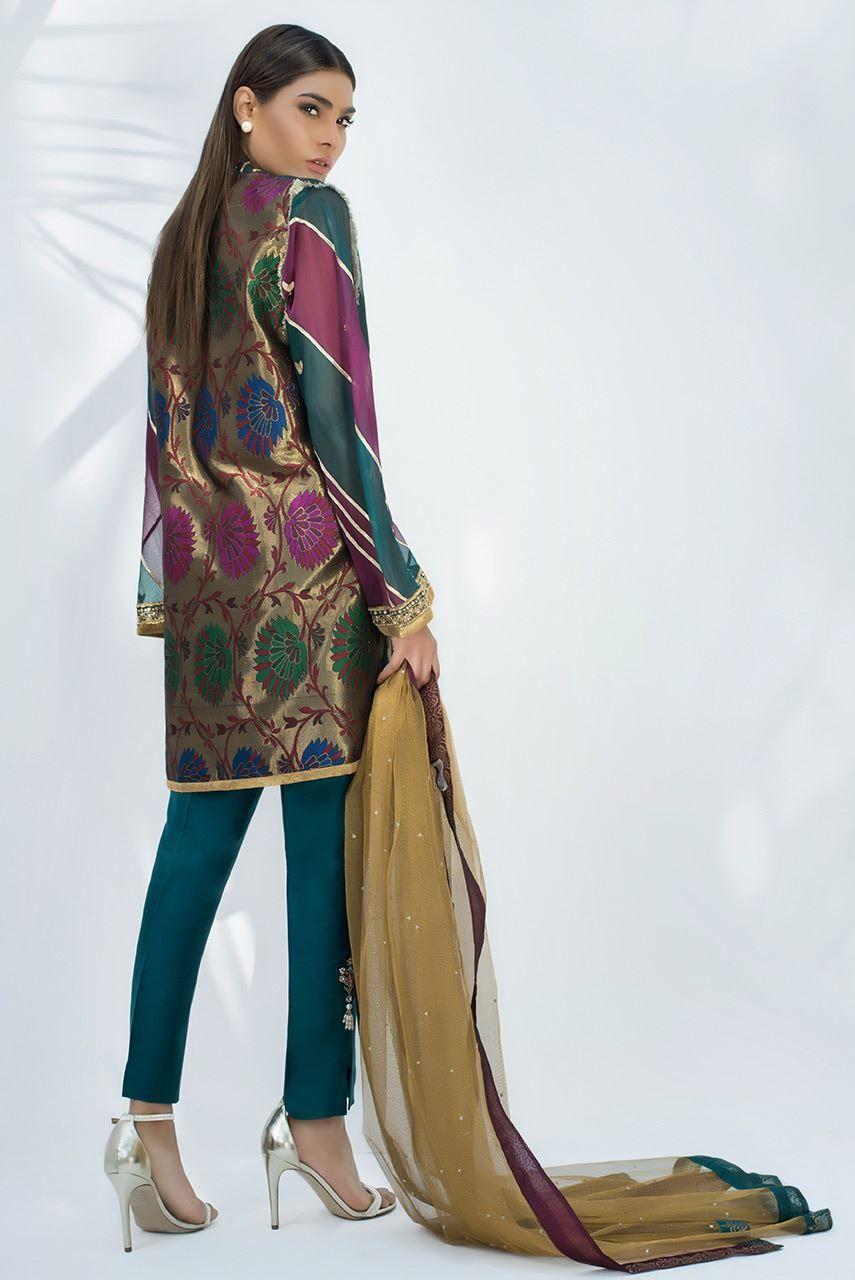 Sania Maskatiya | Organza Woven Embroidered Shirt | Raw ...