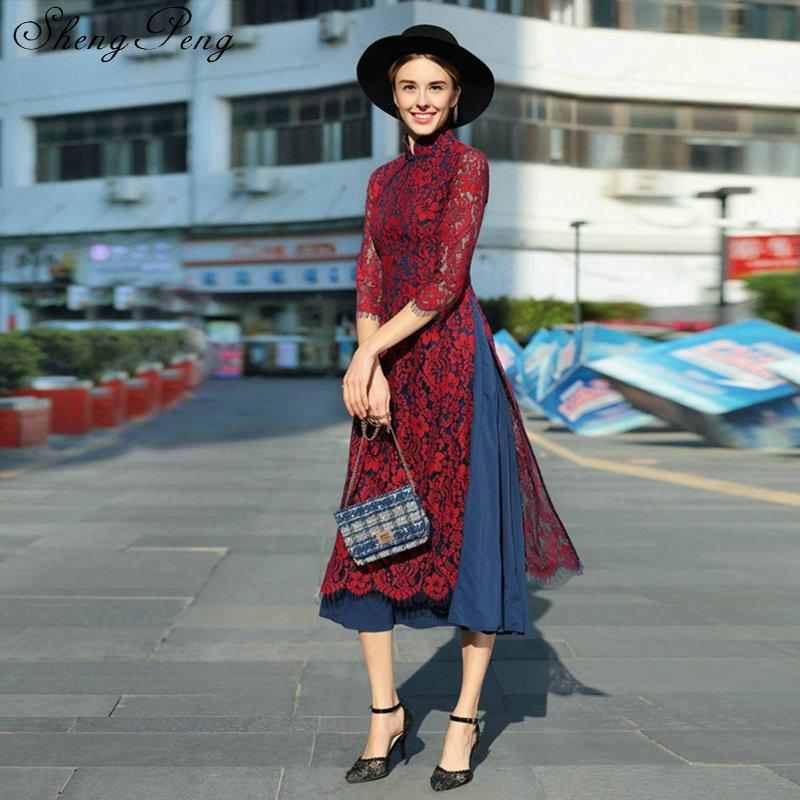 9590e8f32 Traditional vietnam ao dai elegant lace slim long dress women cheongsam  modern cheongsam party dresses qipao aodai V067