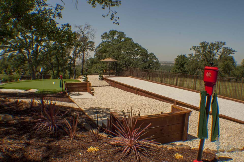bocce ball court dimensions size wiki horseshoe pit nice combo residential