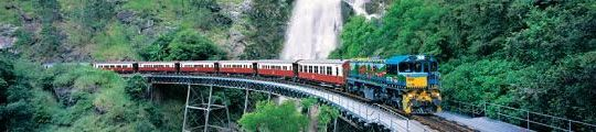 Ride the Kuranda Steam Train - One of the World's Most Spectacular Rail Journeys.  Near Cairns, QLD, Australia