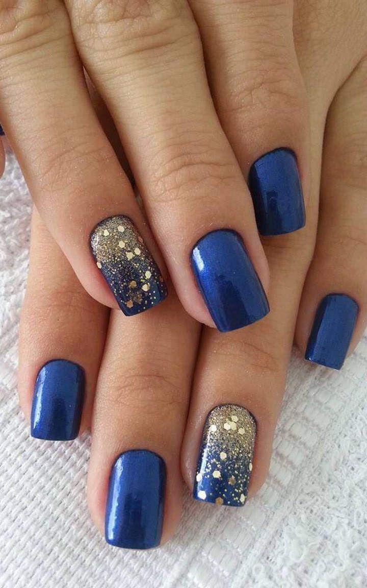 Nail Art Ideas glamorous nail art designs : royal blue nails #13   Nails   Pinterest   Royal blue nails, Blue ...