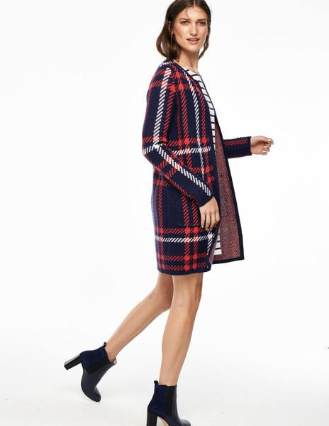 Heritage Check Coatigan Wu022 Cardigans At Boden Shopping List