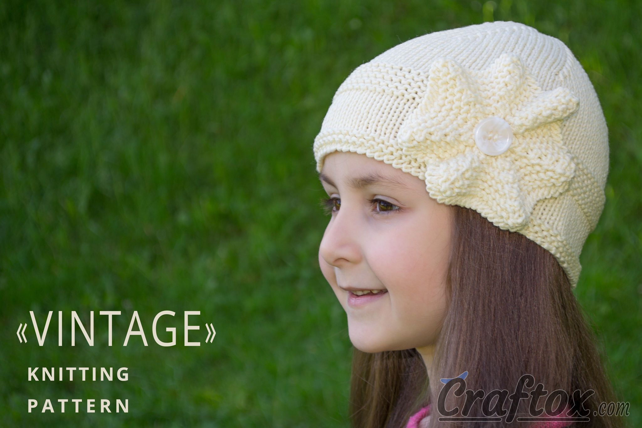 free knitting patterns for baby hats with flowers