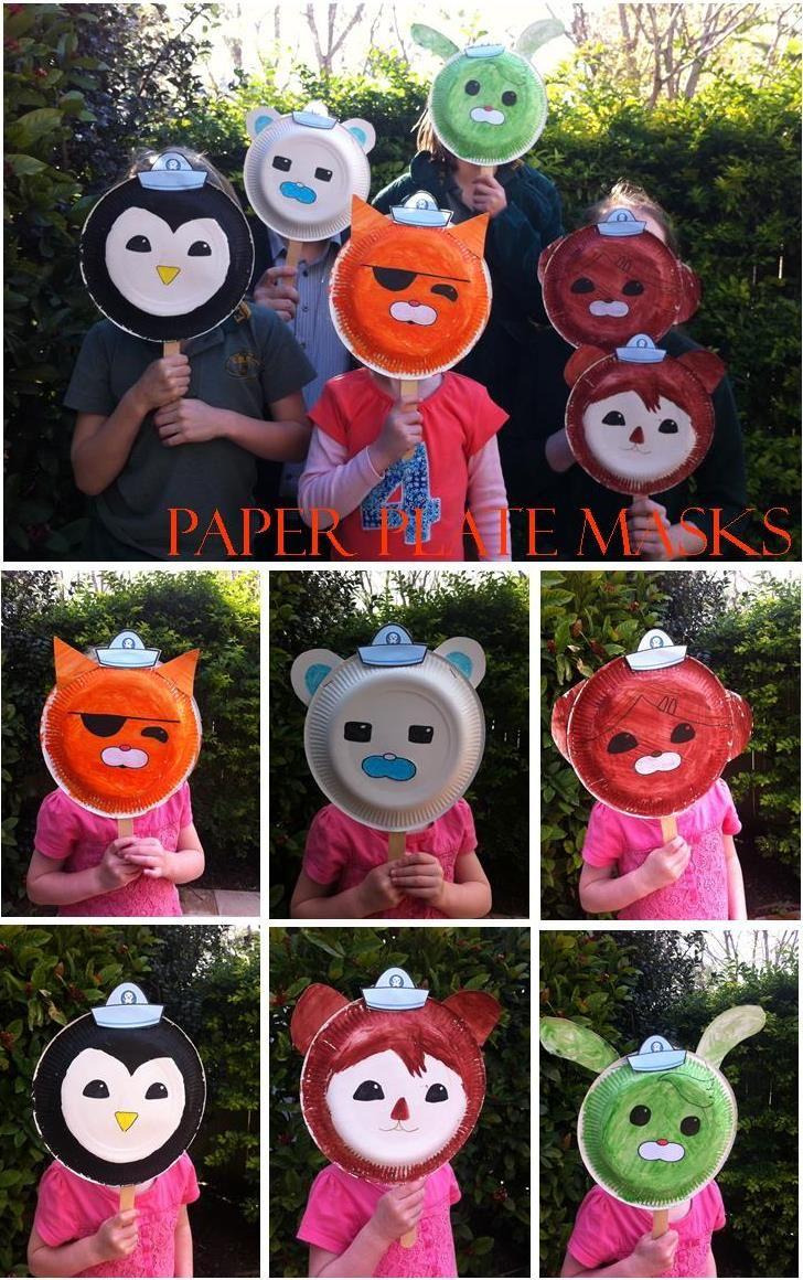 Octonaut paper plate masks - a great craft activity & Octonaut paper plate masks - a great craft activity | seasonal fall ...