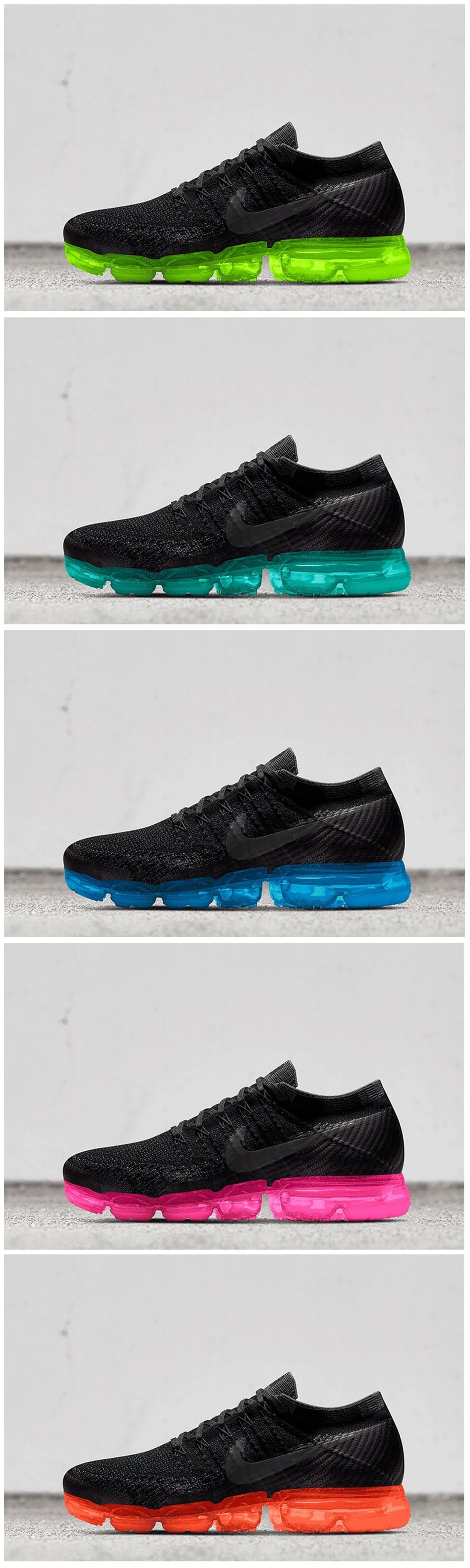 Nike Air VaporMax Flyknit Femei Pantofi alergare Negru/Albastru Y4675m