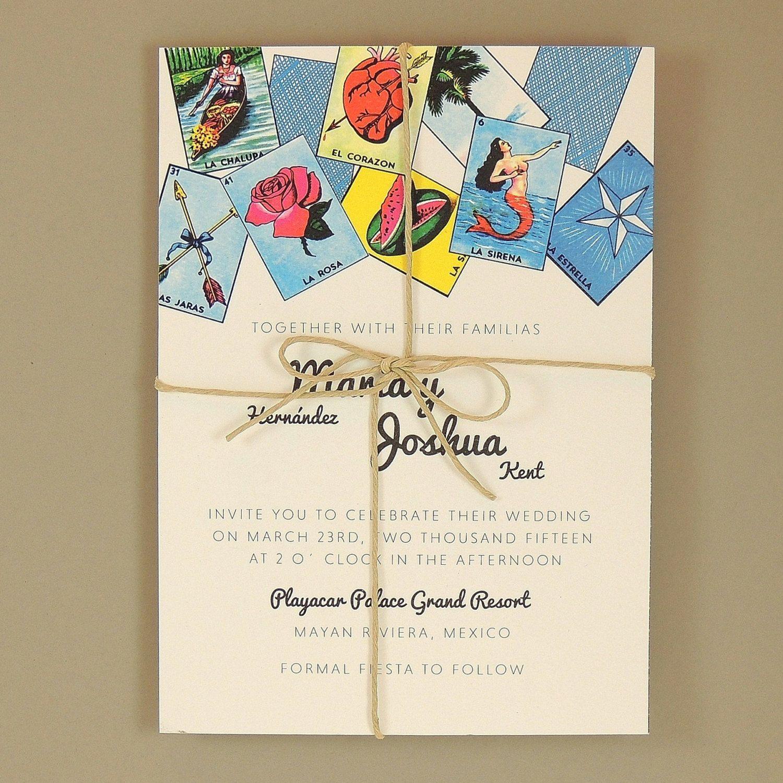 mexican wedding invitations Loteria Wedding Invitations Loteria Inspired Colorful Festive Mexican Wedding Inivitation Maria Suite