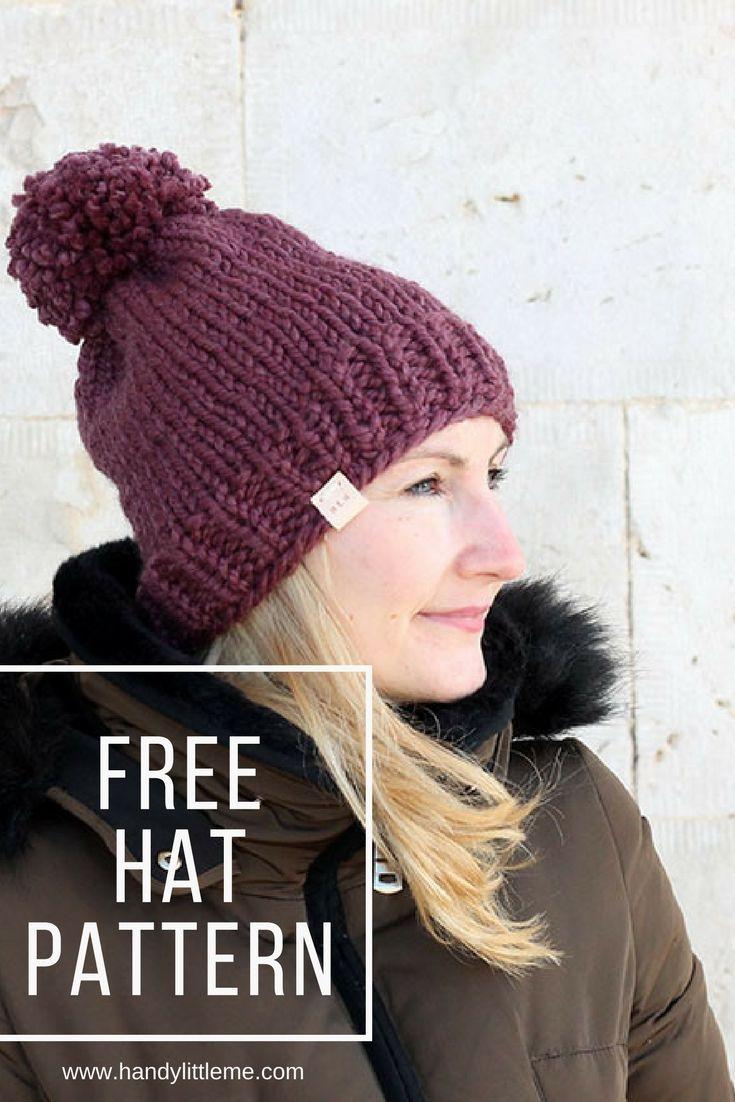 Chunky hat knitting sample. #freepattern #hat #chunkyknits ...