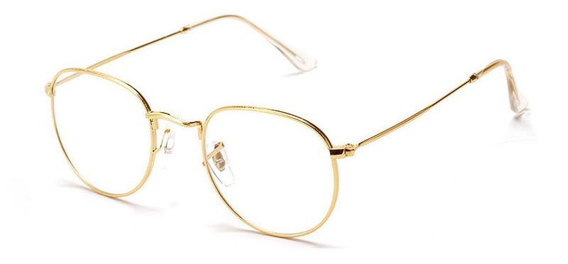 Vintage Inspired Round Metal Frame Clear Lens Glasses | Round glass ...