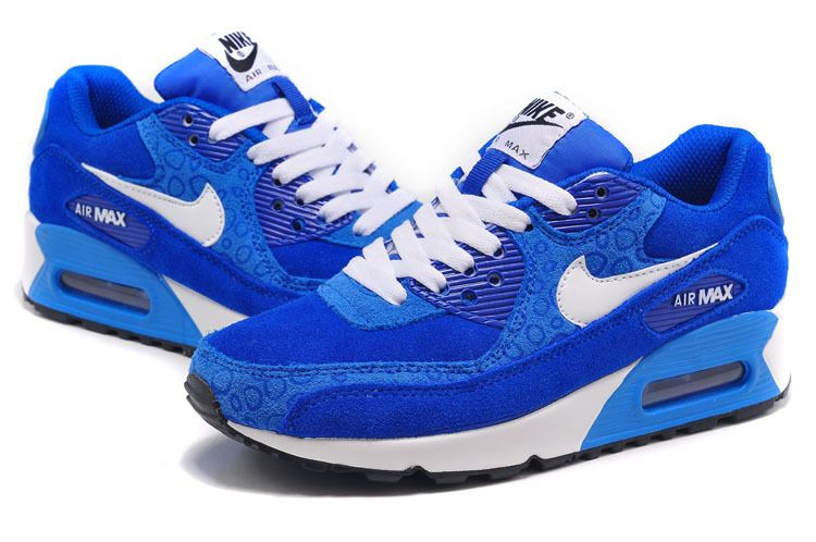 air max 90 blue and white