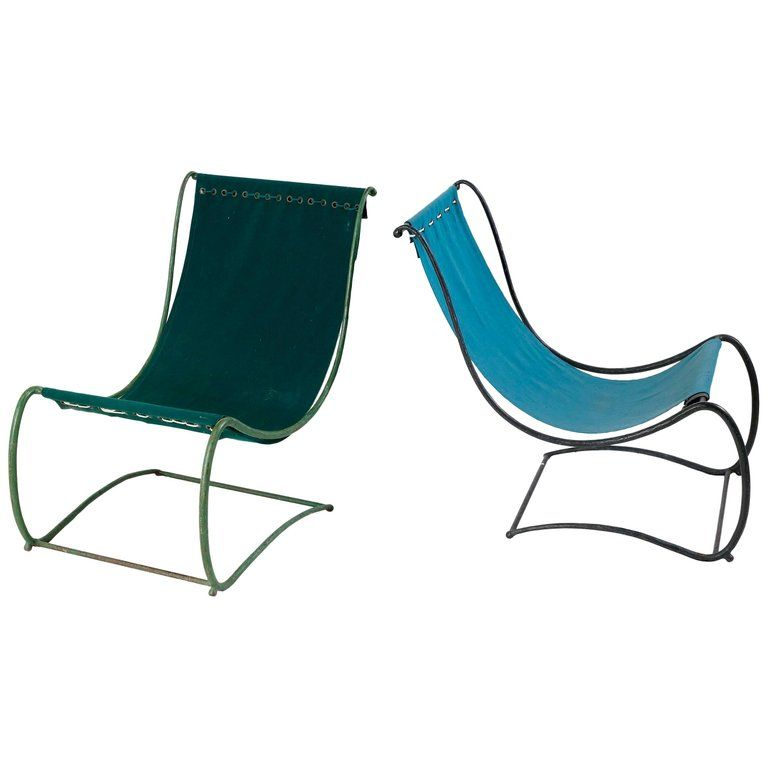 Marvelous Jean Charles Moreux Pair Of Garden Lounge Chairs France C Cjindustries Chair Design For Home Cjindustriesco