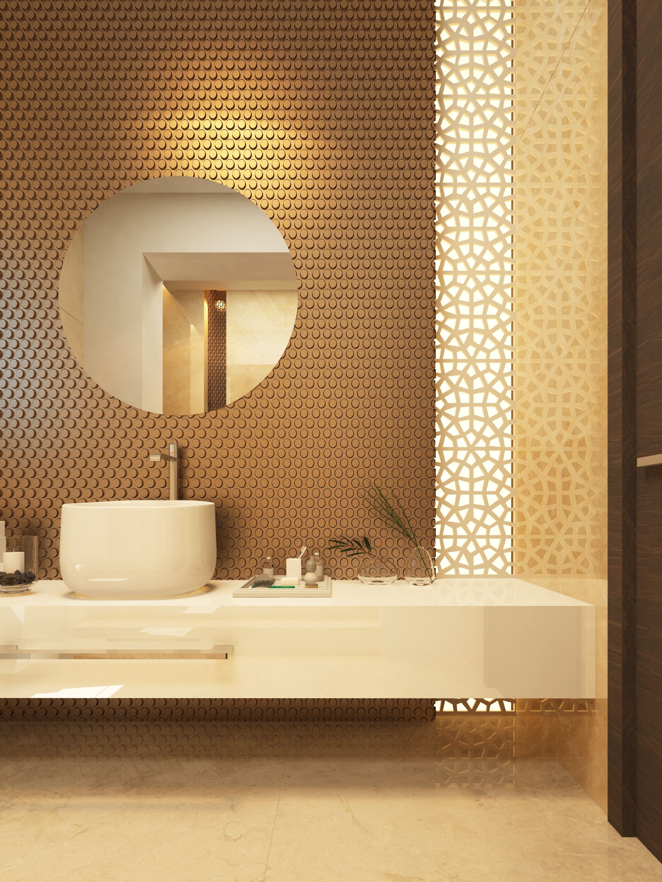 Dimensional wall tile with vertical laser cut screen ...