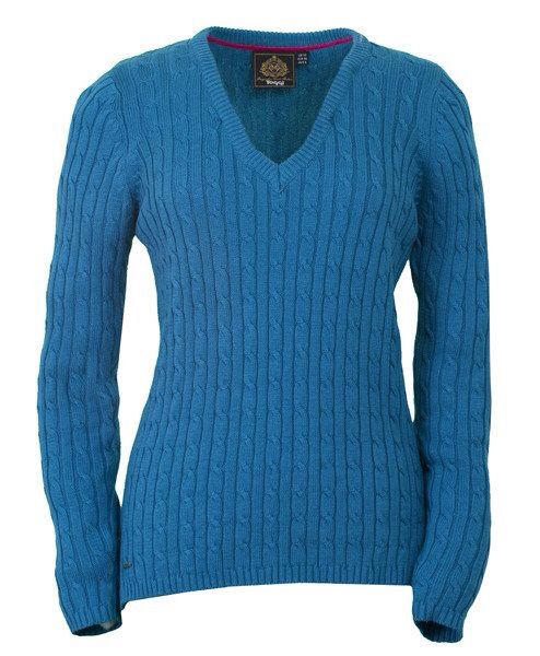 Toggi Juliet vneck sweater in Topaz $89.95  Ponyupequestrian.com