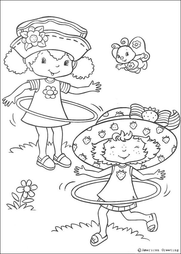 Strawberry Shortcake Coloring Pages With Hula Hoops Strawberry