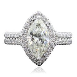 18KT White Gold 2.36ctw Diamond Ring - Longfellow Auctions