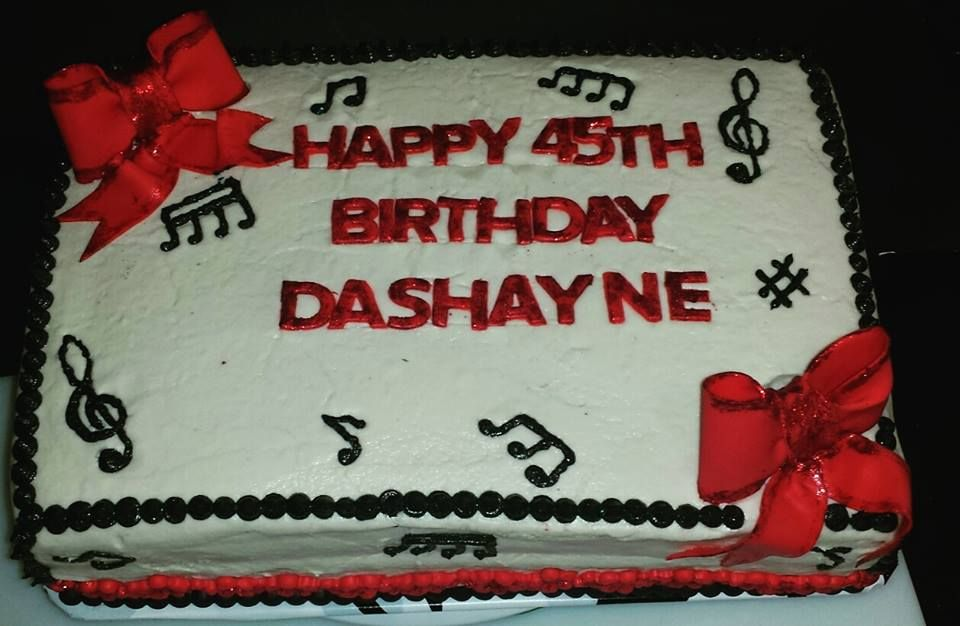 Musical Themed Birthday Cake Red Velvet Los Angeles CA Order