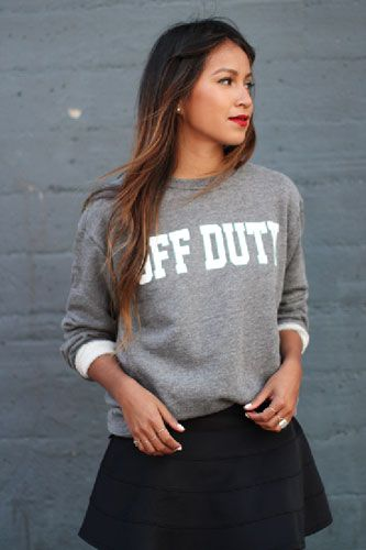 These cheeky sweatshirts take the words right out of our mouths