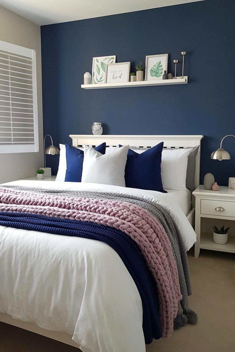 58 Popular And Modern Small Bedroom Design Ideas Page 29 Of 58 Evelyn S World My Dreams My Colors And My Life Bedroom Ideas For Small Rooms Women Woman Bedroom Small Bedroom Bedroom ideas design blue