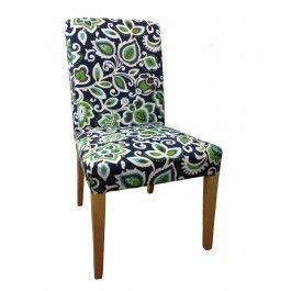 Henriksdal Dining Chair Slipcover In Indoor Outdoor Navy Floral Print IKEA H