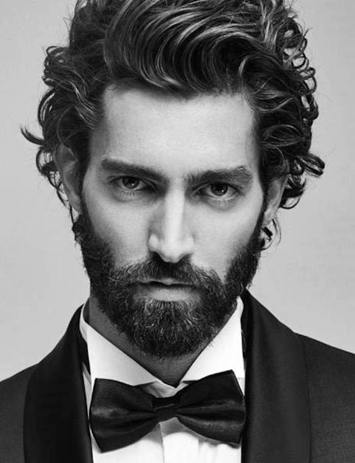 coiffure homme cheveux long avec barbe. Black Bedroom Furniture Sets. Home Design Ideas