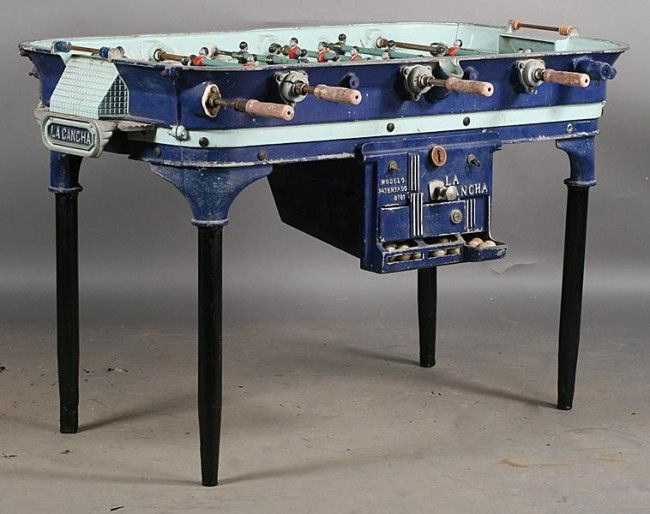 Antique Foosball Table Best 2015 With 214: VINTAGE CAST ALUMINUM FOOSBALL  TABLE