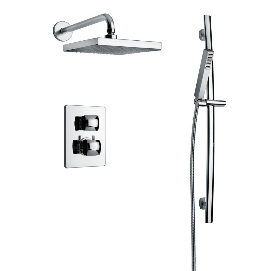 Latoscana Lady Chrome 2-Handle Watersense Shower Faucet With Rain ...