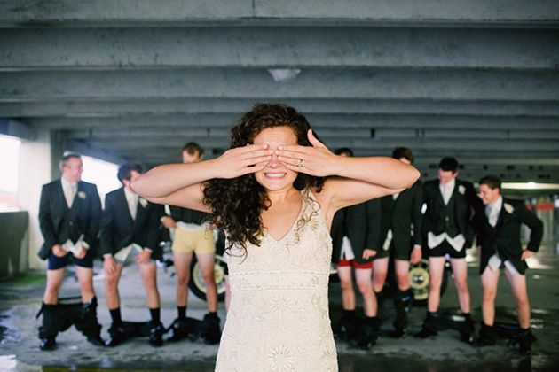 8 Funny Wedding Party Pictures to Pose For  via Project Wedding