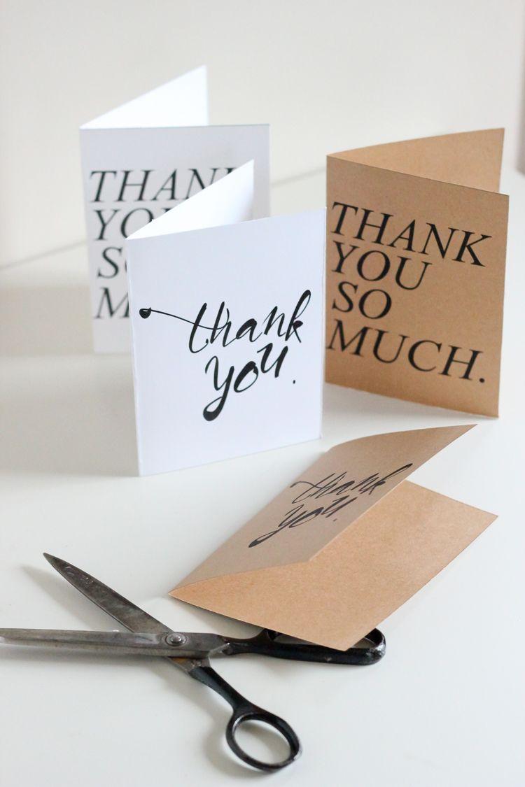 Free thank you card printables delia creates